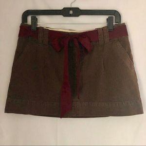 American Eagle Mini Skirt Ribbon Belt 6 Brown